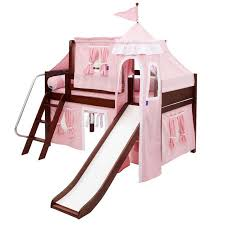 skylar low loft bed with light pink castle tent rosenberryrooms com