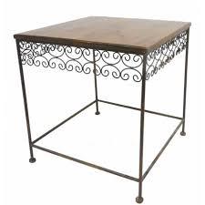 table bout de canapé table basse console d appoint en fer et bois desserte bout de