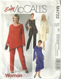 classy patterns mccalls 4722 easy mother of the bride cowl neck