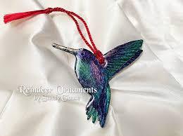 hummingbird christmas ornament hummingbird ornament green blue