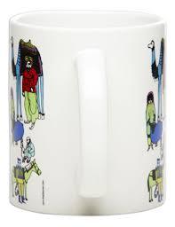 people with animal mug