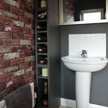 wallpaper designs for bathroom 33 bathroom designs with brick wall tiles ultimate home ideas
