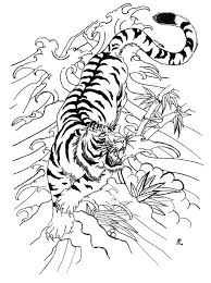 white tiger colored wave tattoo tiger in the waves tiger tattoos
