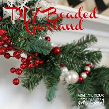 Easy Beaded Christmas Ornaments - 12 days of christmas day 10 beaded christmas garland