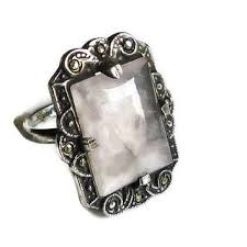 art silver rings images Best antique sterling silver marcasite rings products on wanelo jpg