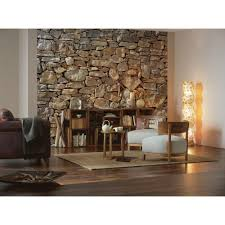 komar 100 in x 145 in stone wall mural 8 727 the home depot stone wall mural