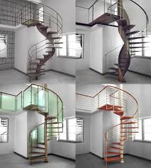 hand made melting iron wood into a spiral staircase by cabinets