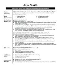 Sample Resume Of Administrative Assistant Sample Resume Without Objective Executive Sample Resume Objective