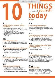 ten things you must tell yourself today inspiremyworkout com a