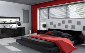 black and red painted bedroom home design ideas