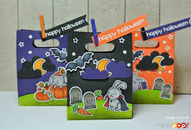Halloween Goodie Bags Crafty Time 4u Halloween Goody Bags Featuring Lawn Fawn