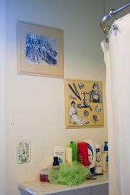 Diy Bathroom Wall Decor Diy Decor Upcycling My Bathroom Wall Art Indiainkelephant