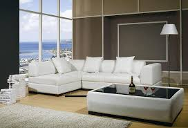 Sectional Sofa White Setting Contemporary Sectional Sofas In The Living Room