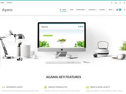bootstrap themes free parallax agama free wordpress themes