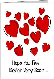 feel better cards printable get well soon cards