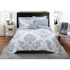 What Is A Bed Set Mainstays Classic Noir Bed In A Bag Coordinating Bedding Set
