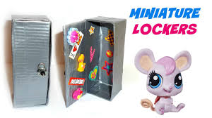 How To Make A Small Toy Box by Diy Lps Lockers Diy Lps Crafts U0026 Stuff Youtube