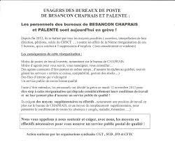 bureau de poste besancon grève à la poste des chaprais hier humeurs des chaprais