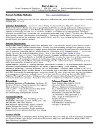 Resume Expected Graduation by Game Designer Resume Best Free Resume Collection