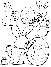 easter egg bunny coloring
