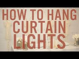 sheer curtains with lights how to set up hang curtain lights youtube