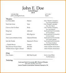 acting resume template free template for acting resume acting resume template actor