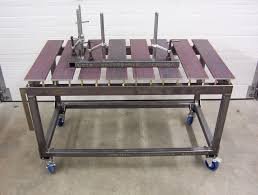 diy welding table plans another skeleton table with adjustable slats by a new zelander on