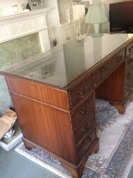 wood desk with glass top desk wood desk with glass top