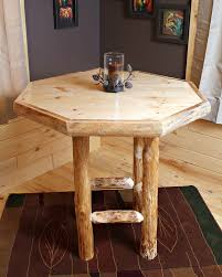 Log Dining Room Table Handcrafted Log Octagon Pub Table Wood Octagon Pub Table Log