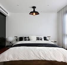 Flush Ceiling Lights For Bedroom Baycheer Hl371812 Industrial Wrought Iron Warehouse Semi Flush