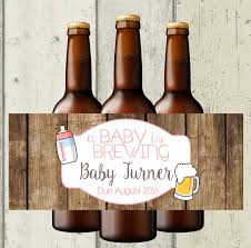 a baby is brewing beer bottle labels baby shower beer bottle