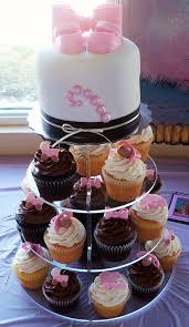baby booties baby baby shower cake cupcake tower