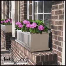 exterior vinyl window boxes planters hooks u0026 lattice