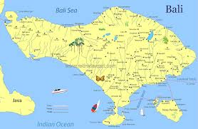bali indonesia map bali map