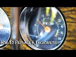 tachometer how to install wire or replace half idiots guide