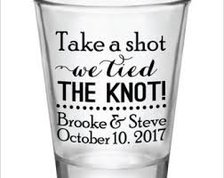 The Knot Favors by Personalized Wedding Favors Custom Glasses By Factory21