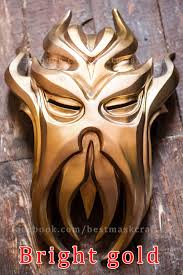 Skyrim Halloween Costume Skyrim Inspired Miraak Morokei Konahrik Dragon Priest Mask