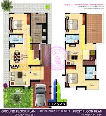 small plot 03 bedroom house design of 1197 sq ft with follor plan