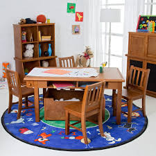 Kids Art Desk And Chair by Kidkraft Star Table And Chair Set With Primary Bins 26912