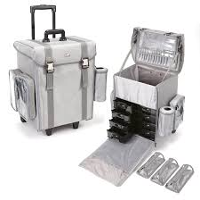professional makeup storage professional rolling makeup from seya available in silver