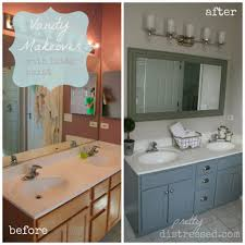bathroom vanity makeover ideas bathroom pretty distressed bathroom vanity makeover with