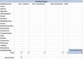 wedding budget template wedding budget template