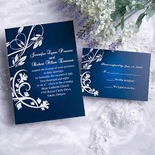 blue wedding invitations cheap classic blue damask wedding invitations with response cards