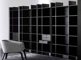 55 black bookcase with doors pombal bookcase tv unit with black