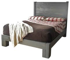 Gray Platform Bed Rustic Gray Platform Bed Rustic Kids Beds By Jnmrustic Designs
