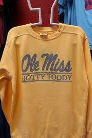 Comfort Color Sweatshirts Wholesale Ole Miss Script Hotty Toddy Bar Crew Sweatshirt Comfort Color