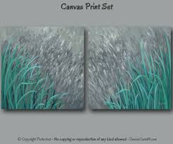 Teal Home Decor by Large Wall Art Teal And Gray Home Decor Abstract Painting