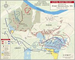 Map Of The United States During The Civil War by The Battle Of Fort Donelson February 15th Civil War Trust