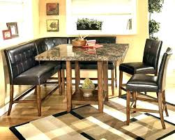 dining room table with storage corner bench table macky co