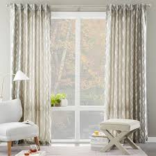 Jacquard Curtain Brushstroke Ogee Jacquard Curtain West Elm